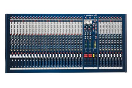 CONSOLE SOUNDCRAFT LX7 en flight + choco